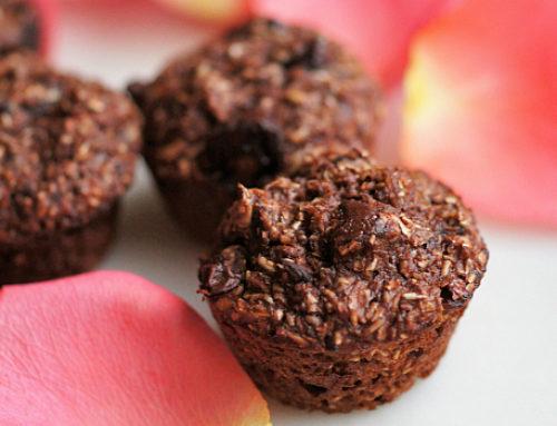 Chocolate Oatmeal Mini Muffins